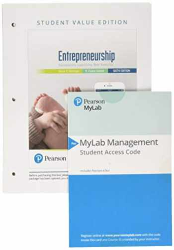 9780136169840-0136169848-Entrepreneurship: Successfully Launching New Ventures, Student Value Edition + 2019 MyLab Entrepreneurship with Pearson eText -- Access Card Package