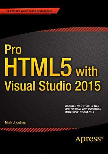 9781484211489-1484211480-Pro HTML5 with Visual Studio 2015