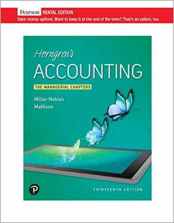 9780135982235-0135982235-Horngren's Accounting: The Managerial Chapters 13th Edition