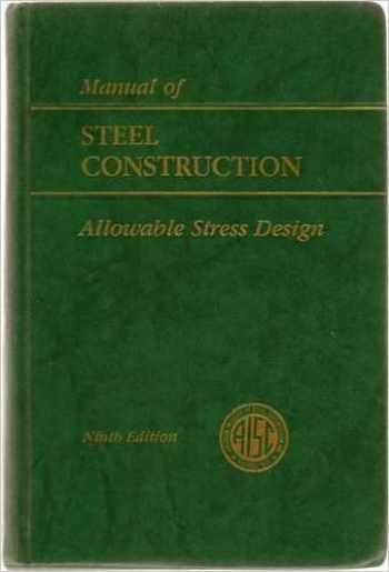 9789994606931-999460693X-AISC Manual of Steel Construction: Allowable Stress Design 9th Edition, ASD, (1989)
