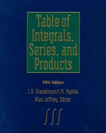 9780122947551-012294755X-Table of Integrals, Series, and Products, Fifth Edition