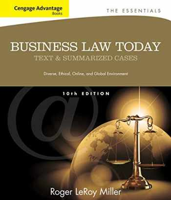 9781133191353-1133191355-Cengage Advantage Books: Business Law Today, The Essentials: Text and Summarized Cases