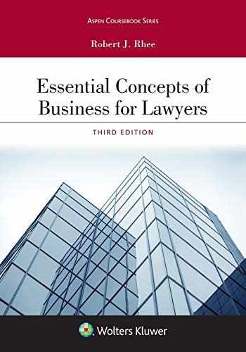 9781543804560-154380456X-Essential Concepts of Business for Lawyers (Aspen Coursebook Series)