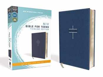9780310454953-0310454956-NIV, Bible for Teens, Thinline Edition, Leathersoft, Blue, Red Letter, Comfort Print