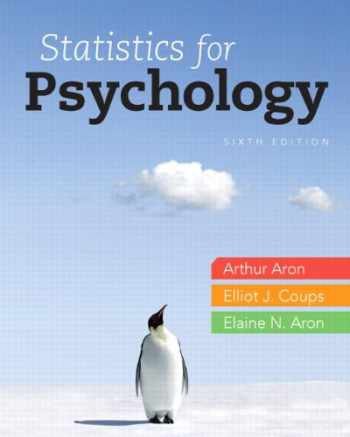9780205258154-0205258158-Statistics for Psychology, 6th Edition