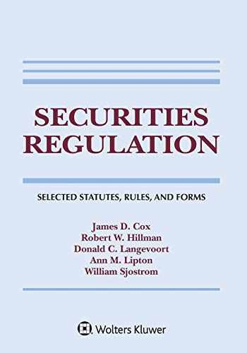 9781543820331-1543820336-Securities Regulation: Selected Statutes, Rules, and Forms, 2020 Edition (Supplements)