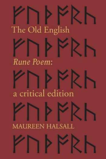 9781487592684-148759268X-The Old English Rune Poem: A Critical Edition (McMaster Old English Studies and Texts)
