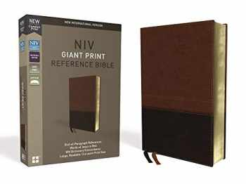 9780310449508-0310449502-NIV, Reference Bible, Giant Print, Leathersoft, Brown, Red Letter, Comfort Print