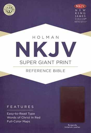 9781433604928-1433604922-NKJV Super Giant Print Reference Bible, Burgundy Imitation Leather