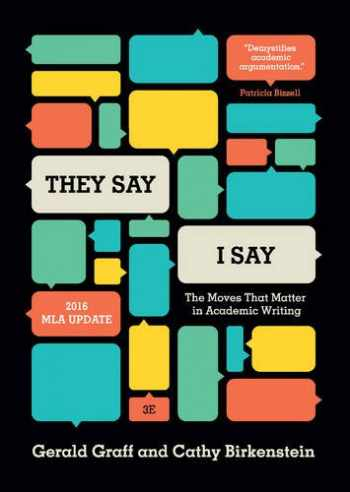 """9780393935844-0393935841-""""They Say / I Say"""": The Moves That Matter in Academic Writing (Third Edition)"""