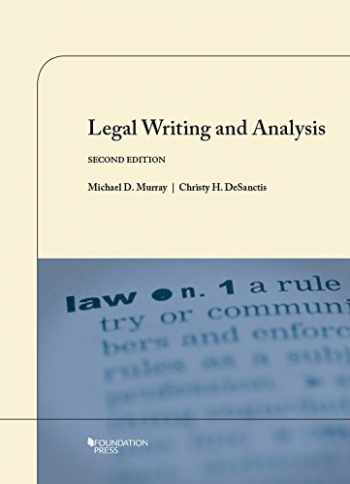 9781609302450-1609302451-Legal Writing and Analysis, 2nd (Coursebook)