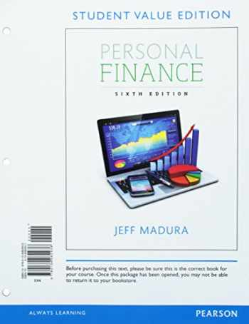 9780134082936-0134082931-Personal Finance, Student Value Edition (Pearson Series in Finance)