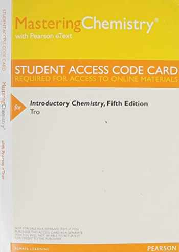 9780321934598-0321934598-MasteringChemistry with Pearson eText -- Standalone Access Card -- for Introductory Chemistry (5th Edition)