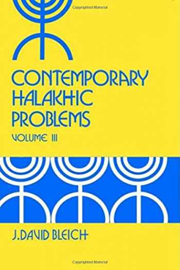 9780881253153-0881253154-Contemporary Halakhic Problems (Library of Jewish Law and Ethics)