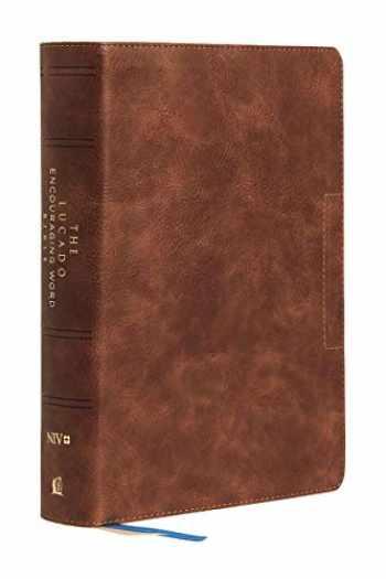 9780785203605-0785203605-NIV, Lucado Encouraging Word Bible, Leathersoft, Brown, Comfort Print: Holy Bible, New International Version