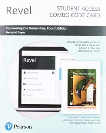 9780135256091-0135256097-Revel for Discovering the Humanities -- Combo Access Card