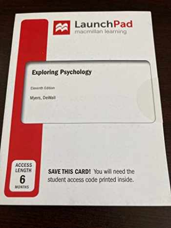 9781319280253-1319280250-LaunchPad for Exploring Psychology (Six-Months Access)