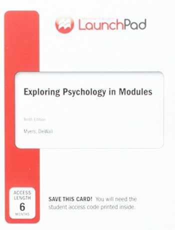 9781464177712-1464177716-LaunchPad for Myers's Exploring Psychology in Modules (Six-Month Access)