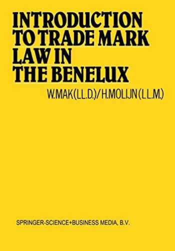 9789401744072-9401744076-Introduction to Trade Mark Law in the Benelux