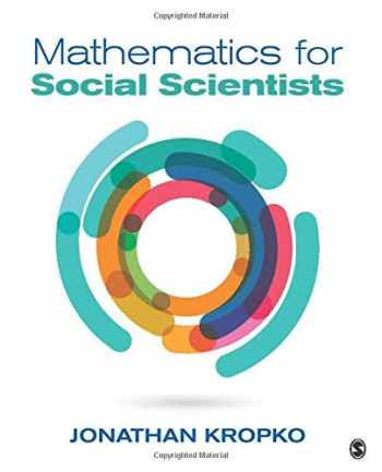 9781506304212-1506304214-Mathematics for Social Scientists (NULL)