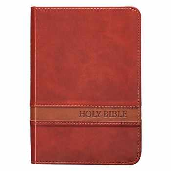9781432117337-1432117335-KJV Holy Bible, Large Print Compact Bible, Brown Faux Leather Bible w/Ribbon Marker, Red Letter Edition, King James Version