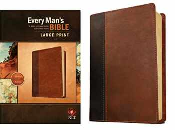 9781496407672-1496407679-Every Man's Bible: New Living Translation, Large Print, TuTone (LeatherLike, Brown/Tan) – Study Bible for Men with Study Notes, Book Introductions, and 44 Charts