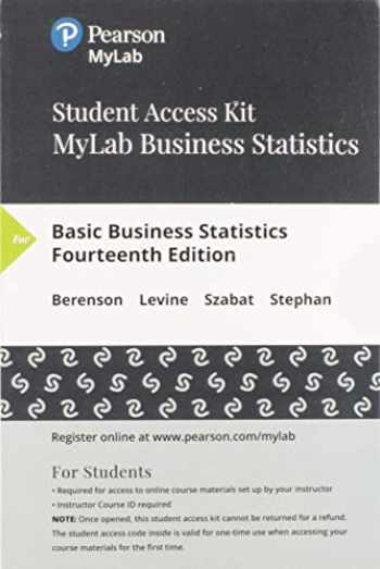 9780134780603-0134780604-MyLab Statistics with Pearson eText -- 24 Month Standalone Access Card -- for Basic Business Statistics