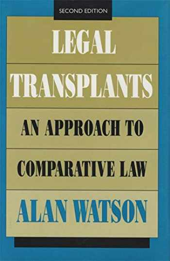 9780820315324-082031532X-Legal Transplants: An Approach to Comparative Law