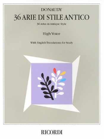 9780793572991-0793572991-Stefano Donaudy: 36 Arie di Stile Antico: High Voice