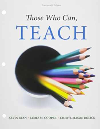 9781305622913-130562291X-Bundle: Those Who Can, Teach, Loose-leaf Version, 14th + MindTap Education, 1 term (6 months) Printed Access Card