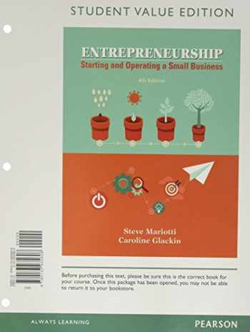 9780134471846-0134471849-Entrepreneurship: Starting and Operating A Small Business, Student Value Edition Plus MyLab Entrepreneurship with Pearson eText -- Access Card Package (4th Edition)