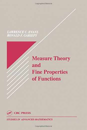 9780849371578-0849371570-Measure Theory and Fine Properties of Functions (Studies in Advanced Mathematics)