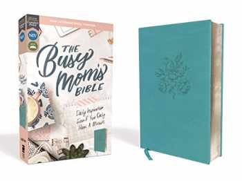 9780310454083-0310454085-NIV, The Busy Mom's Bible, Leathersoft, Teal, Red Letter, Comfort Print: Daily Inspiration Even If You Only Have One Minute