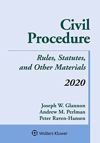9781543820362-1543820360-Civil Procedure: Rules, Statutes, and Other Materials, 2020 Supplement (Supplements)