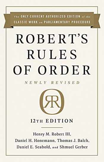 9781541736696-1541736699-Robert's Rules of Order Newly Revised, 12th edition