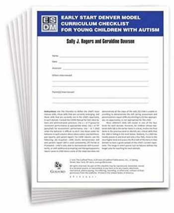 9781606236338-1606236334-Early Start Denver Model Curriculum Checklist for Young Children with Autism