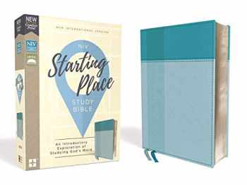 9780310450733-031045073X-NIV, Starting Place Study Bible, Leathersoft, Teal, Thumb Indexed, Comfort Print: An Introductory Exploration of Studying God's Word