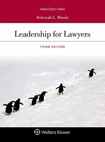 9781543820010-1543820018-Leadership for Lawyers (Aspen Select Series)