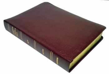 9780887071515-0887071511-KJV - Burgundy Bonded Leather - Large Print - Indexed - Thompson Chain Reference Bible (025193)