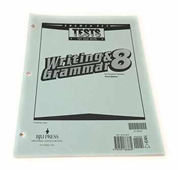 9781591663669-1591663660-Writing & Grammar 8 Tests Answer Key, 3rd Edition