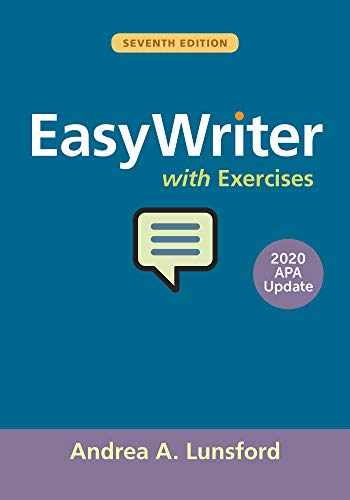 9781319361457-1319361455-EasyWriter with Exercises, 2020 APA Update