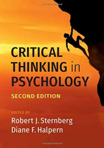 9781108497152-1108497152-Critical Thinking in Psychology