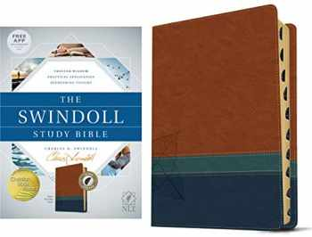 9781414395418-1414395418-Tyndale NLT The Swindoll Study Bible, TuTone (LeatherLike, Brown/Teal/Blue, Indexed) – New Living Translation Study Bible by Charles Swindoll, Includes Study Notes, Book Introductions and More!