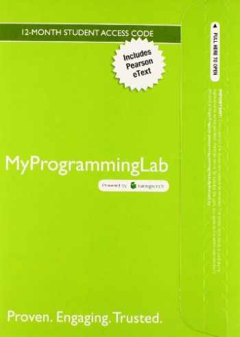 9780133831771-0133831779-MyLab Programming with Pearson eText -- Access Card -- Starting Out with Java: Early Objects
