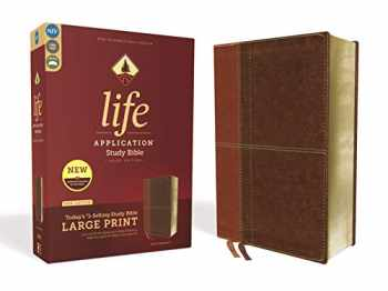 9780310452942-0310452945-NIV, Life Application Study Bible, Third Edition, Large Print, Leathersoft, Brown, Red Letter