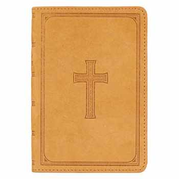 9781642720310-1642720313-KJV Holy Bible, Large Print Compact Bible, Tan Top Grain Premium Leather Bible w/Ribbon Marker, Red Letter Edition, King James Version