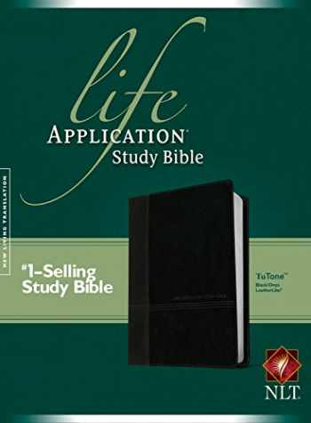 9781496413444-149641344X-NLT Life Application Study Bible, Second Edition, TuTone (Red Letter, LeatherLike, Black/Onyx)