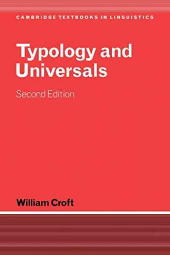 9780521004992-0521004993-Typology and Universals (Cambridge Textbooks in Linguistics)