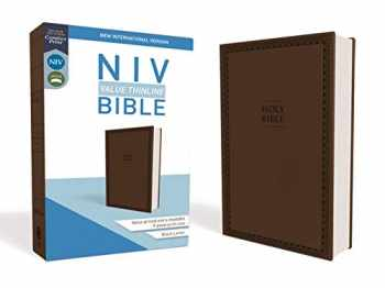 9780310448464-0310448468-NIV, Value Thinline Bible, Leathersoft, Brown, Comfort Print