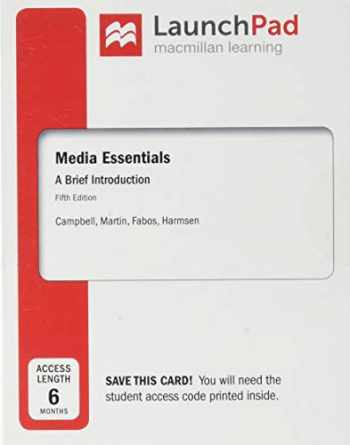 9781319280291-1319280293-LaunchPad for Media Essentials (Six-Months Access)